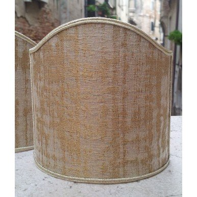 Clip-On Lamp Shade Sand and Gold Rubelli Venier Jacquard Fabric
