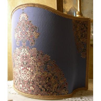 Venetian Lampshade in Rubelli Lampas Fabric Sherazade Tuono Pattern Half Lamp Shade