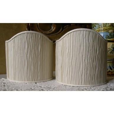 Wall Sconce Clip-On Shield Shade Rubelli Pleated Taffetas Fabric Mini Lampshade