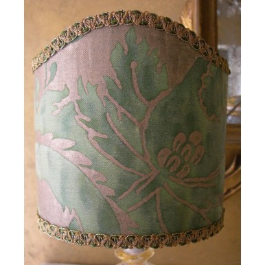 À Tissu Lampe Pince Fortuny Vintage Avec Olimpia Or En Vert Chevet Et Abat Jour Murano De Verre YvIgy76fb