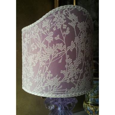 Shield Shade Lilac Hazy Moon Jacquard Rubelli Fabric Lampshade