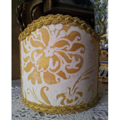 Wall Sconce Clip-On Shield Shade Fortuny Cimarosa in Yellow & White