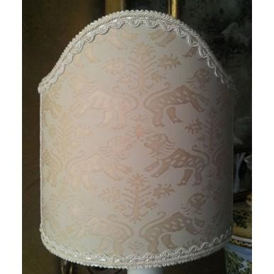Clip-On Shield Shade Fortuny Fabric Richelieu Monotones Half Lampshade