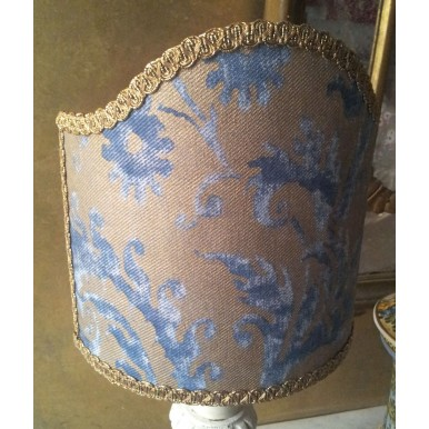 Clip-On Shield Shade Fortuny Demedici in Blue and Silvery Gold