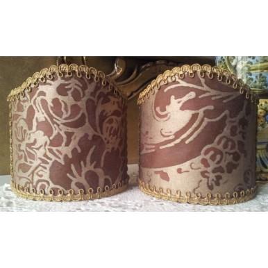 Ventolina per Applique in Tessuto Fortuny Dandolo Viola e Oro