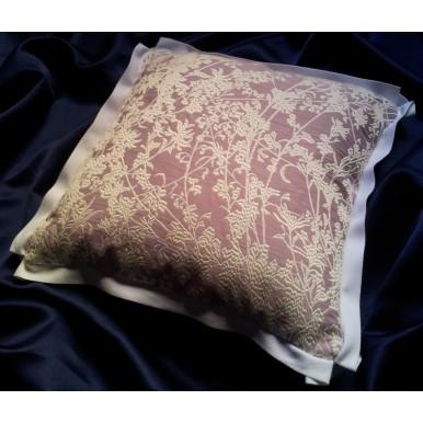 Fodera per Cuscino in Tessuto Jacquard Rubelli Hazy Moon Bianco e Lilla