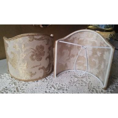 Ventolina per Applique in Tessuto Jacquard di Seta Rubelli Les Indes Galantes Bianco e Oro