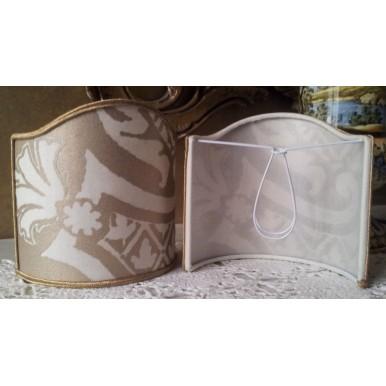 Ventolina per Applique in Tessuto Fortuny Carnavalet Bianco e Oro