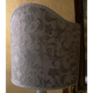 Paralume Ventola Tessuto Jacquard di Seta Rubelli Les Indes Galantes Bianco e Argento