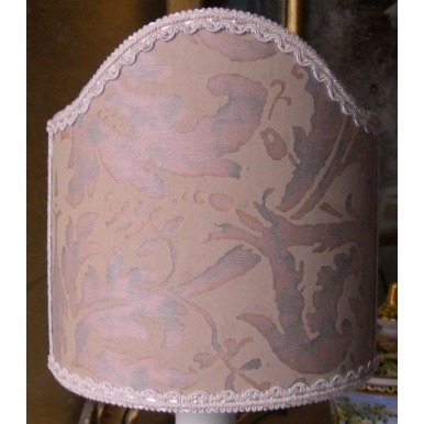 Clip-On Shield Shade Fortuny Lucrezia Driftwood Monotones with Blue-Green Overlay