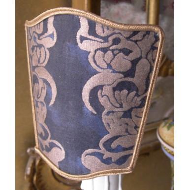 Ventolina Scudetto per Applique in Tessuto Fortuny Dandolo Blu e Oro