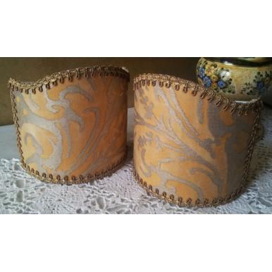 Ventolina per Applique in Tessuto Fortuny Lucrezia Giallo e Oro