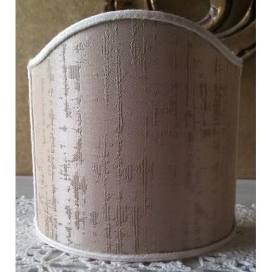 Abat Jour à Pince en Tissu Lampas de Soie Rubelli Zanni Nacré