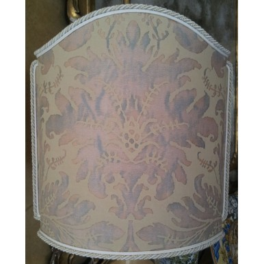 Venetian Lamp Shade Fortuny Fabric Driftwood Blue-Green Lucrezia Pattern