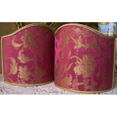 Ventolina per Applique in Tessuto Jacquard di Seta Rubelli Les Indes Galantes Rosso Cardinale e Oro