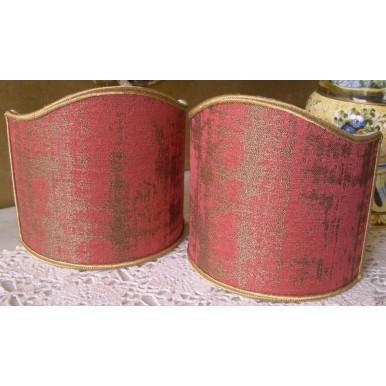 Ventolina per Applique in Tessuto Jacquard Rubelli Venier Rosa Lampone e Oro