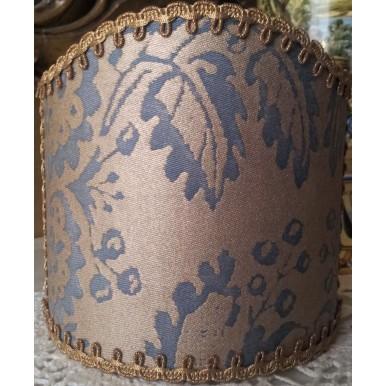 Ventolina per Applique in Tessuto Fortuny Solimena Azzurro e Oro