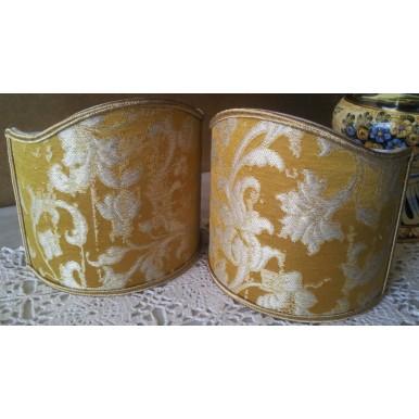 Ventolina per Applique in Tessuto Jacquard di Seta Rubelli Les Indes Galantes Oro