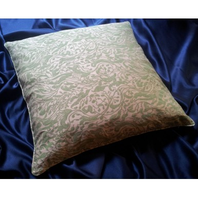 Throw Pillow Cushion Cover Fortuny Fabric Old Rose & Celadon Leopardi Pattern