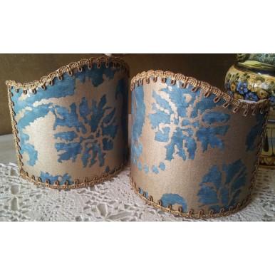 Ventolina per Applique in Tessuto Fortuny Farnese Azzurro e Oro