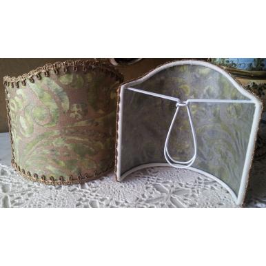 Ventolina per Applique in Tessuto Fortuny Campanelle Verde e Oro