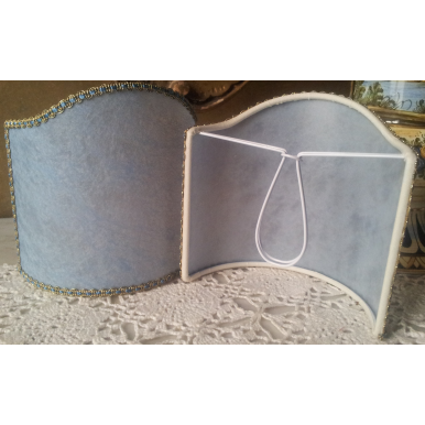 Ventolina per Applique in Pergamena Azzurra Venata