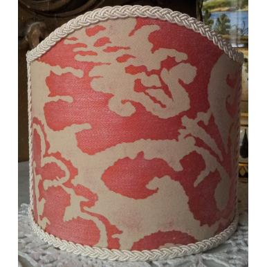 Ventolina per Applique in Tessuto Fortuny Corone Rosso e Beige