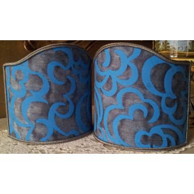 Ventolina per Applique in Tessuto Fortuny Nuvole Blu