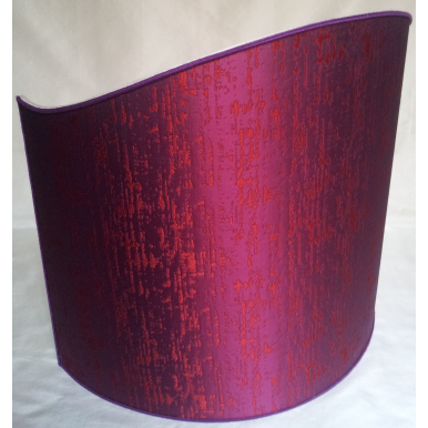 Floor Half Lampshade in Silk Lampas Rubelli Fabric Purple Zanni Pattern