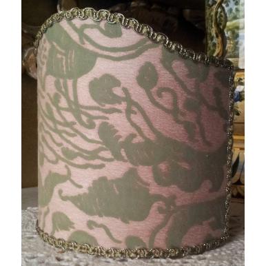 Ventolina per Applique in Tessuto Fortuny Leopardi Rosa e Verde
