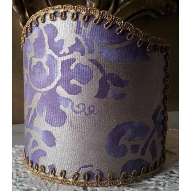 Ventolina per Applique in Tessuto Fortuny Carnavalet Viola e Oro