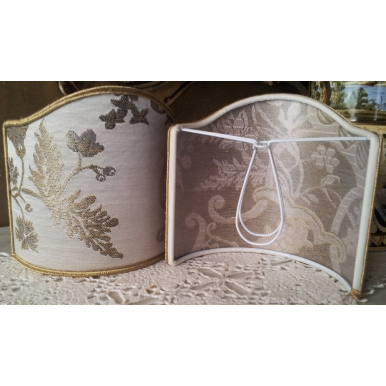 Ventolina per Applique in Tessuto Broccato di Seta Rubelli Madama Butterfly Avorio