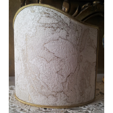 Ventolina per Applique in Tessuto Lampasso di Seta Rubelli Dorian Gray Avorio