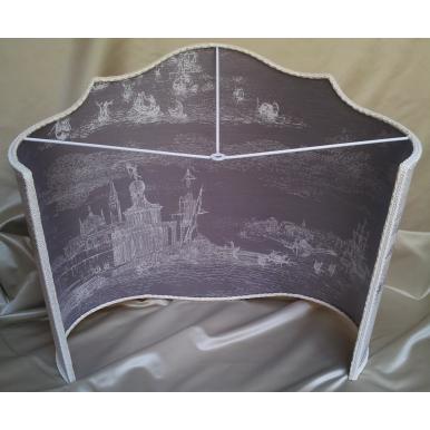Floor Lamp Shade Jacquard Rubelli Fabric Cameo Toile de Venise Pattern 02