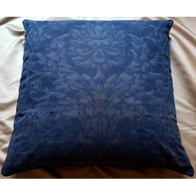 Fodera per Cuscino in Tessuto Fortuny Barberini blu