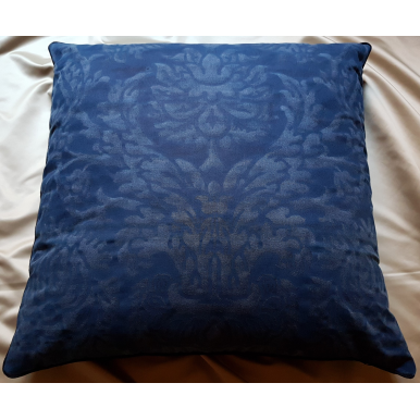 Fortuny Fabric Throw Pillow Cover Barberini Blue Navy Monotones Texture