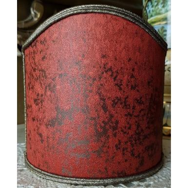 Abat Jour à Pince en Tissu Jacquard Rubelli Lacca Rouge Corail