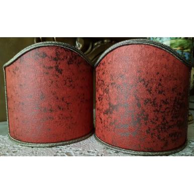 Ventolina per Applique in Tessuto Jacquard Rubelli Lacca Rosso Corallo