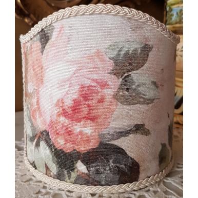 Abat Jour à Pince en Tissu Imprimé Rubelli Violetta Printemps