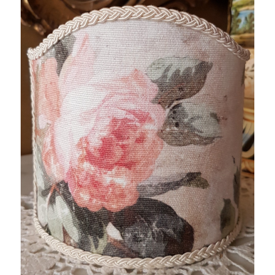 Clip-On Lamp Shade Rubelli Printed Fabric Spring Violetta Pattern
