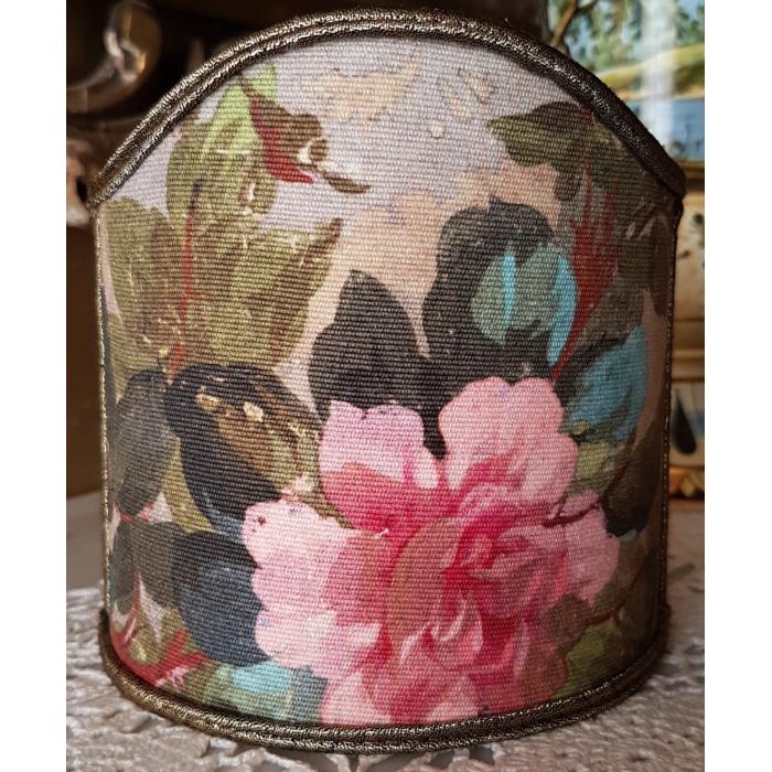 Clip-On Lamp Shade Rubelli Printed Fabric Autumn Violetta Pattern