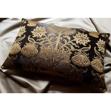 Fodera per Cuscino in Broccatello di Seta Rubelli Castiglione Ebano