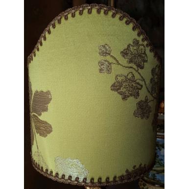 Abat Jour à Pince en Tissu Brocart de Soie Rubelli Lady Hamilton Vert Citron