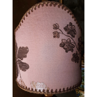 Clip On Lamp Shade Peach Pink Silk Brocade Rubelli Fabric Lady Hamilton Pattern Half Lampshade