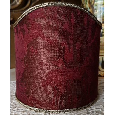 Wall Sconce Clip-On Lamp Shade Amethyst Jacquard Rubelli Fabric Gritti Pattern