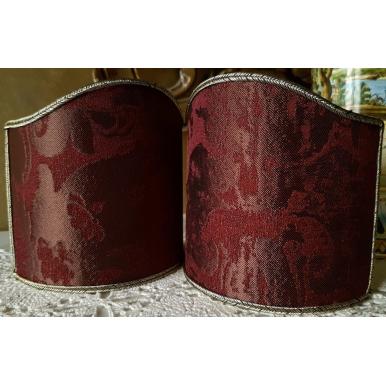 Wall Sconce Clip-On Lamp Shade Amethyst Jacquard Rubelli Fabric Gritti Pattern