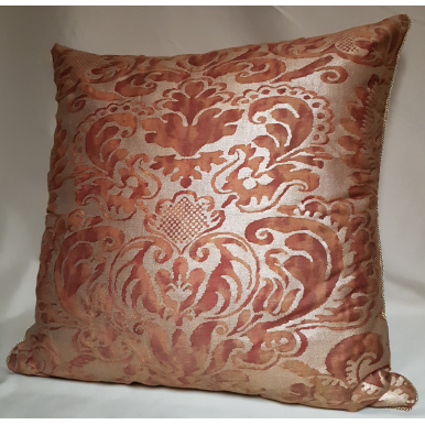 Throw Pillow Cushion Cover Fortuny Fabric Rust & Gold Sevigne Pattern