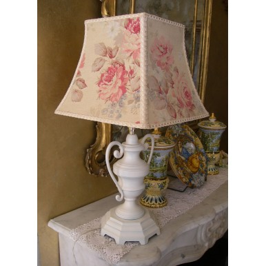 Antique Bronze Table Lamp Shabby Chic