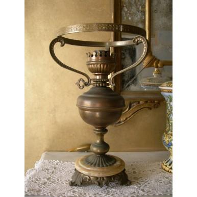 Antica Lampada da Tavolo ad Olio