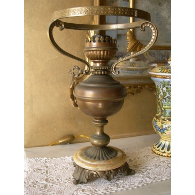 Antique Brass Oil Table Lamp